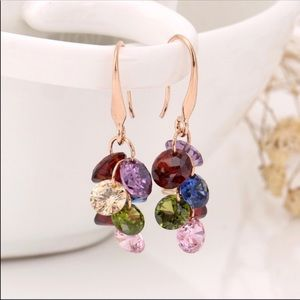 Gold plated Swarovski Crystals drop earrings